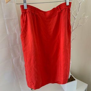 Vintage Cherry Silk Easy Skirt